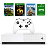 Xbox One S 1TB All-Digital Edition Bundle, Xbox One S 1TB Disc-free Console, Wireless Controller, Download Codes for…
