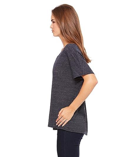 7df324b3 Bella + Canvas Ladies' Slouchy T-Shirt, Blk Slub, Large at Amazon ...