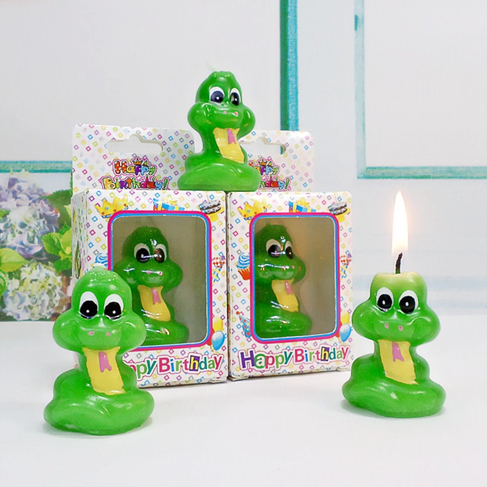Birthday Gifts Cake Toppings Candles Cartoon Animal Party Decoration Candles for Kids' Birthday Parties (Little Snake) by none-branded (Image #8)