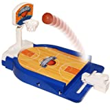 Mini Basketball Table Game - Desktop Arcade Hoops Slap Shot Miniature Game for Ages 3 and Up | Classic Mini Basketball Tournament Table Top Games for Sports Fans and Fanatics