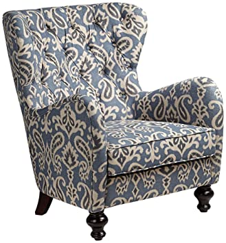 Attrayant Soft Blue Ikat Pattern Armchair