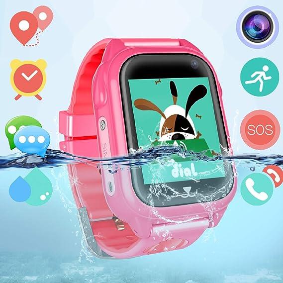 Amazon.com: Dizzlle - Reloj inteligente para niños con GPS ...