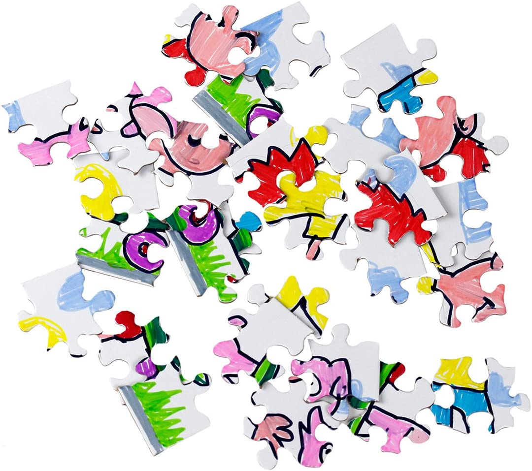 28 Pieces Compoz-A-Puzzle 12 Puzzles Hygloss Products Blank Jigsaw Puzzle 5.5 x 8 Inch