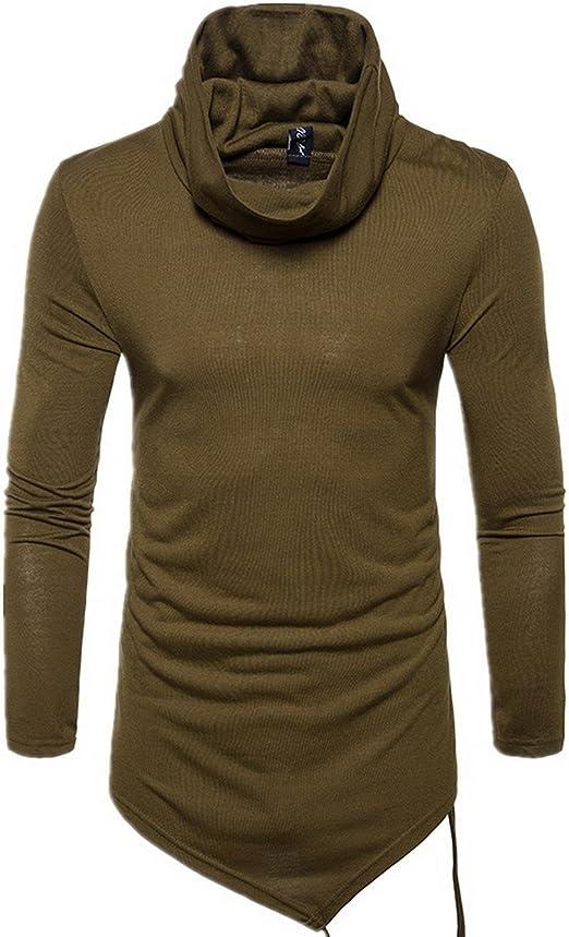 Elonglin Mens Stylish Dress Shirts Plain Long Sleeve Solid Color