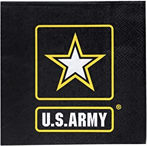 U.S. Army Logo Beverage Party Napkins (16 Pack) US Army Party Collection by Havercamp
