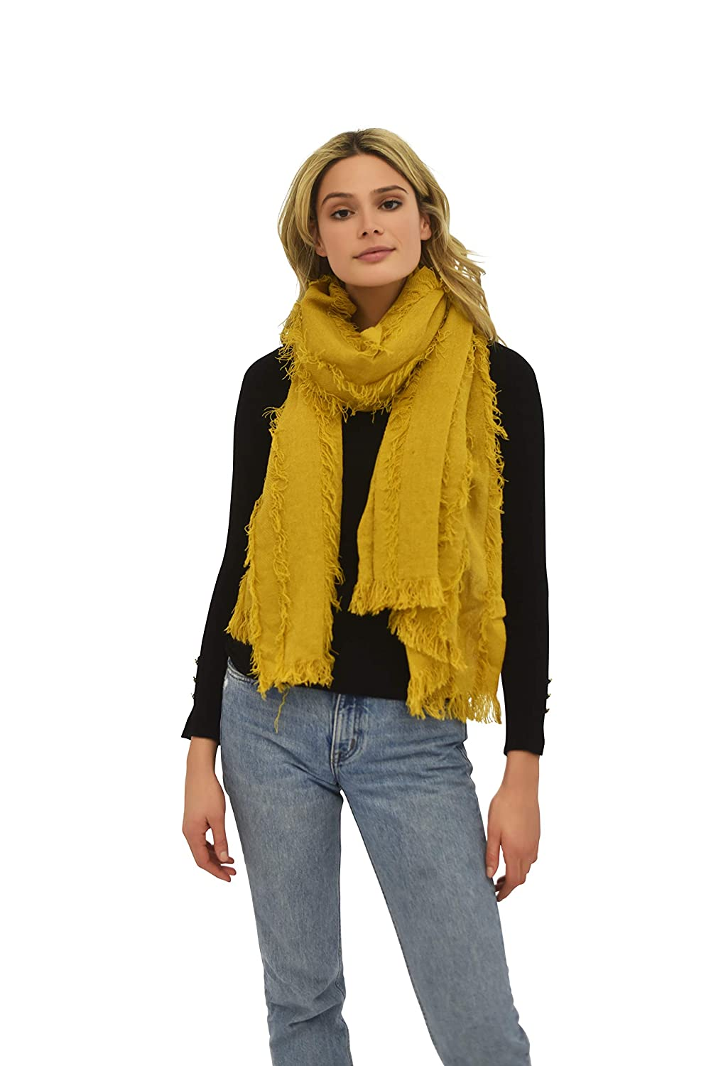 Cold Weather Scarf Mustard Textured Print