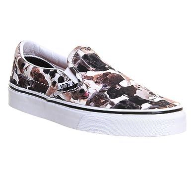 Vans Unisex Classic Slip-On ASPCA Puppy Skate Shoes-Puppy/White-9.5
