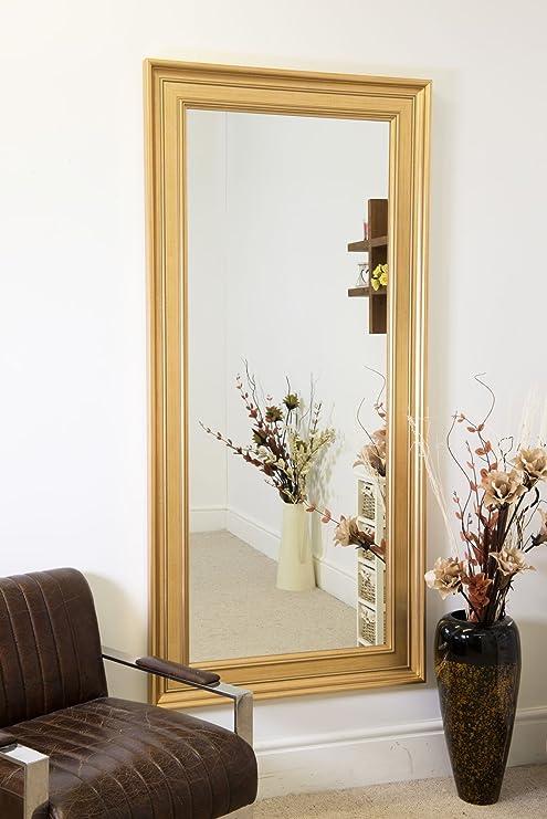 Grande oro contemporaneo moderno specchio da parete grande 5 ft x 2 ...