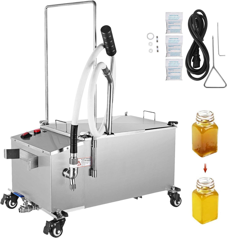 VEVOR Mobile Fryer Filter 80LB Capacity Oil Filtration System 300W Fryer Filter Frying Oil Filtering System 110v/60Hz (Oil Capacity 40L/10.56 Gallon)