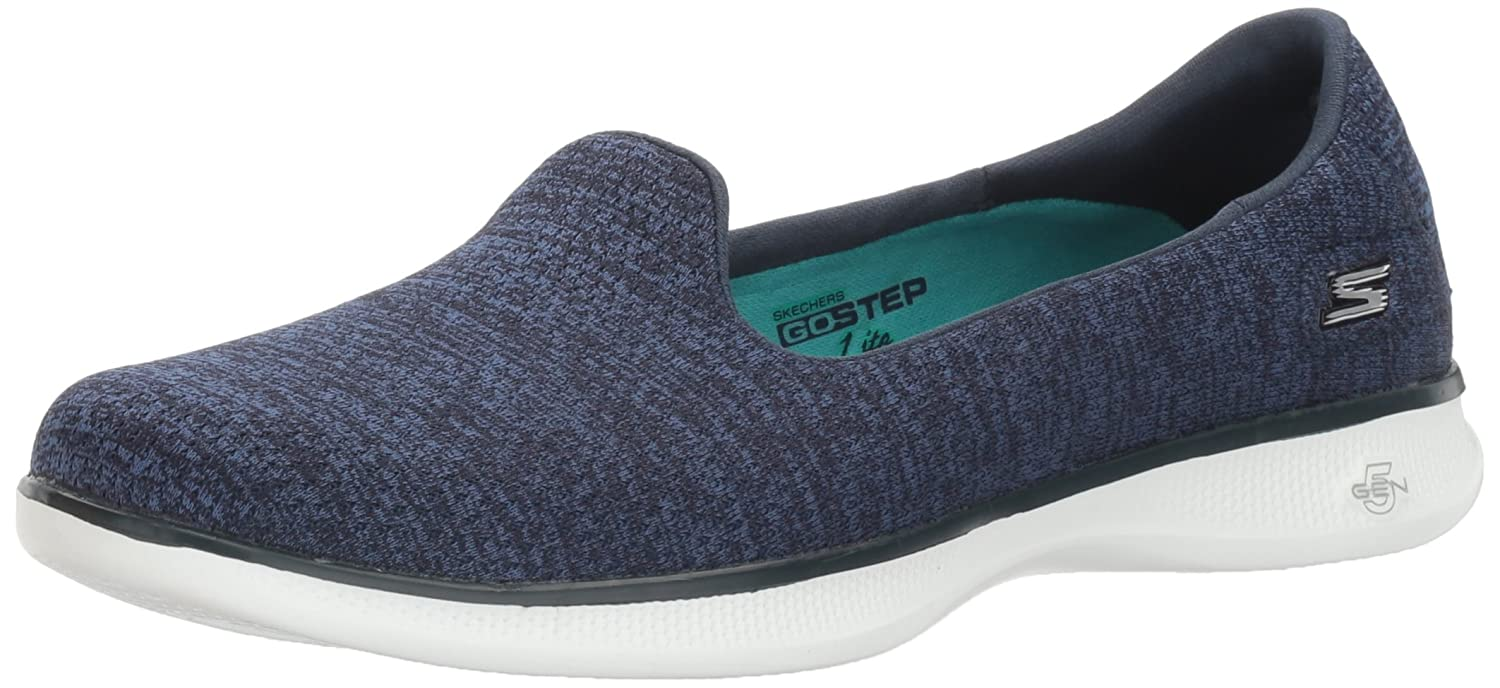 Skechers Performance Women's Go Step Lite Slip-on Walking Shoe B01LTAGQ4S 8.5 B(M) US|Navy Heather