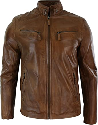 NBENTERPRISES Mens Genuine Leather Bomber Jacket For Men