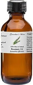 Rosemary Essential Oil 4 oz 100% Pure and Natural Therapeutic Grade Grandma's Home