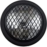 "TASWK 6.5"" Bullet Halogen Motorcycle Headlight w/Grille for Bobber Cafe Racer Cruiser Vintage Style (Black)"