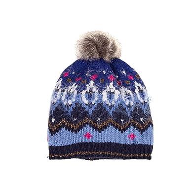 Catimini Bonnet tricot CM90005, Fille, Bleu (Blue 44), XX-Large ... fb23f5335ed