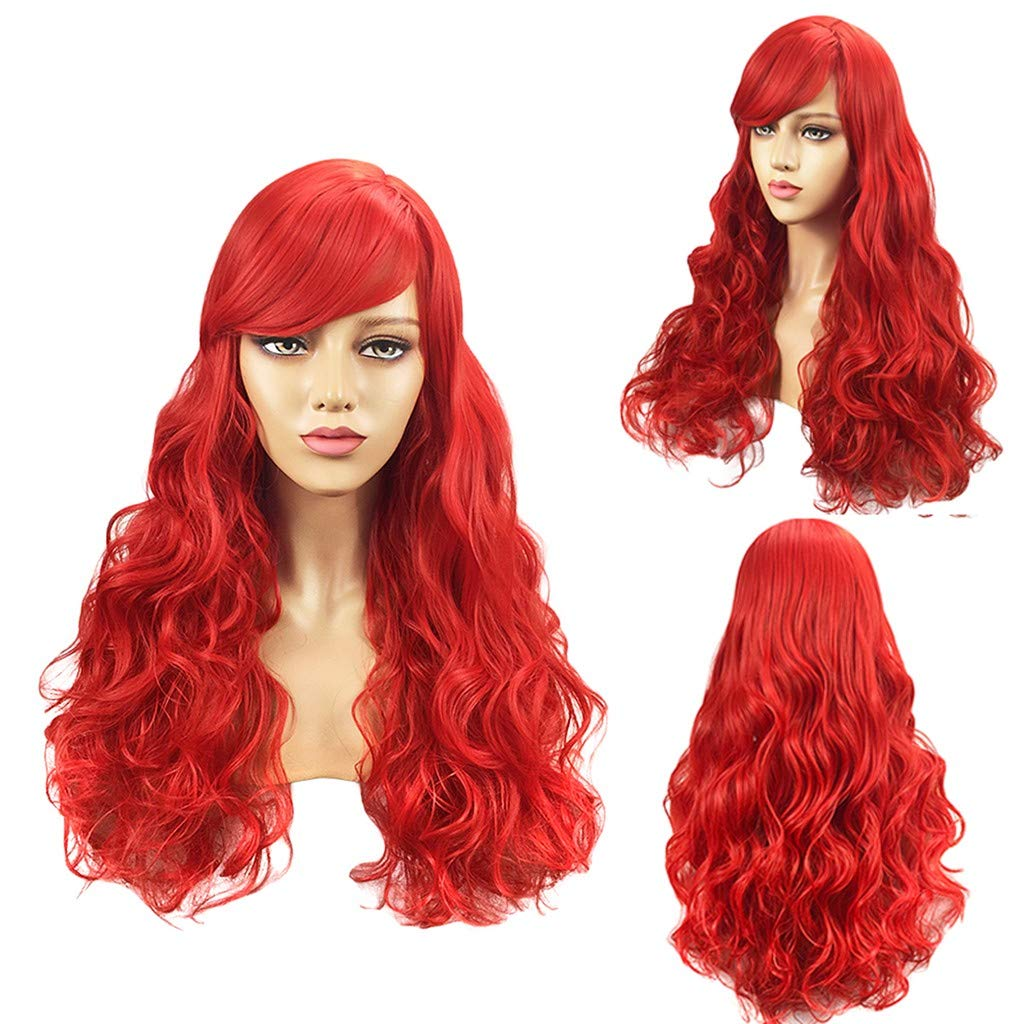 Rigel7 Women's Fashion Wig Red Long Curly Synthetic Hairshort Wigs Hair Wave Wig Professional Cosplay Wig for Women by Rigel7