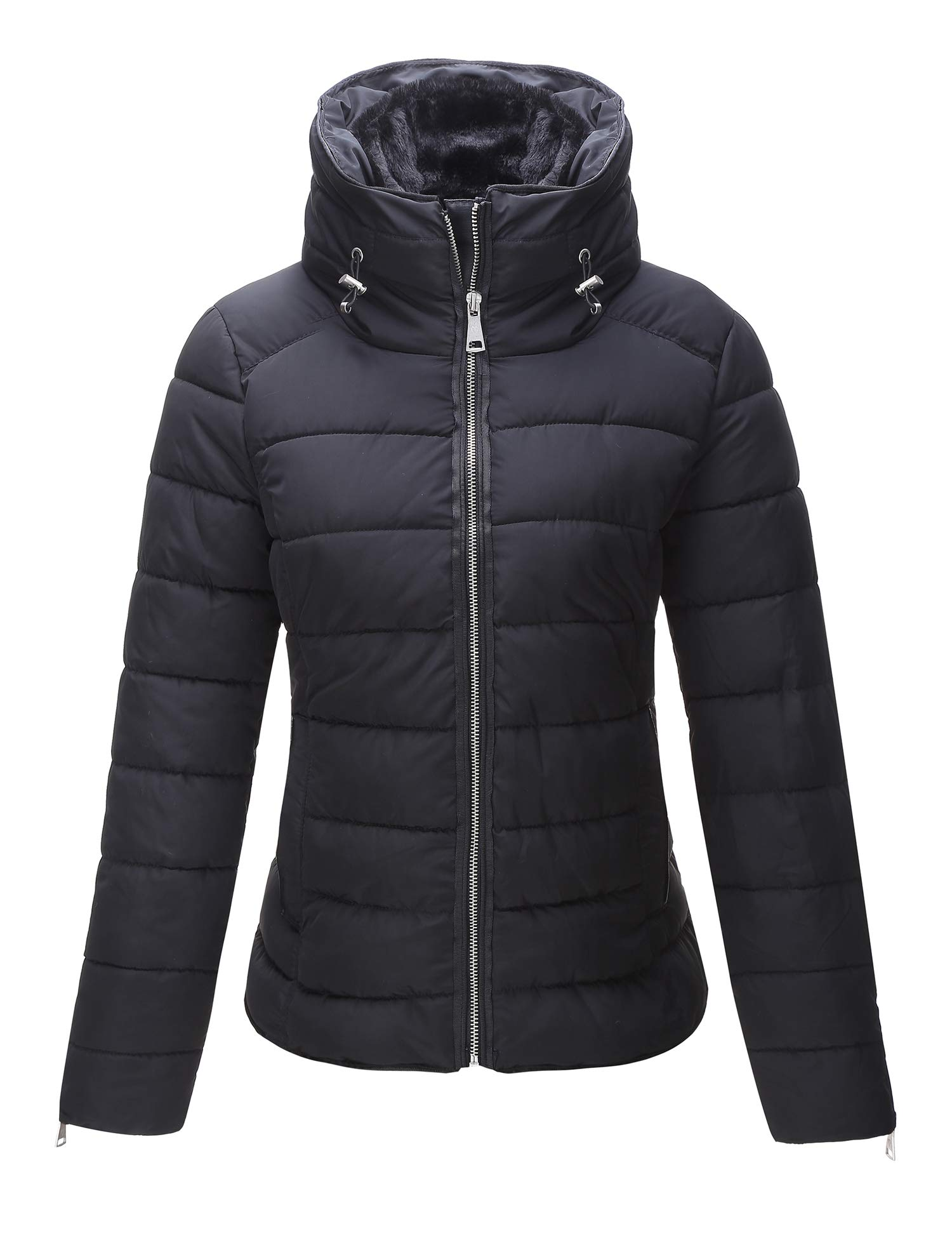 Bellivera Women's Quilted Lightweight Padding Jacket, Puffer Coat Cotton Filling Water Resistant by Bellivera