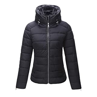 Bellivera Women's Quilted Lightweight Padding Jacket, Puffer Coat Cotton Filling Water Resistant