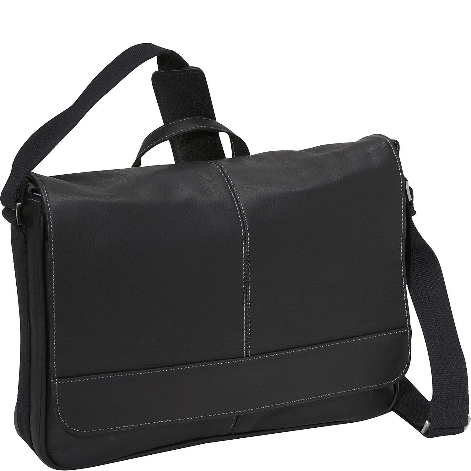 Kenneth Cole Reaction Come Bag Soon Leather 15.6'' Messenger Laptop, Black One Size