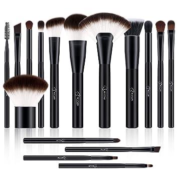 41f59492b7b7 BESTOPE Makeup Brushes 16 PCs Makeup Brush Set Premium Synthetic for  Cosmetic Foundation...