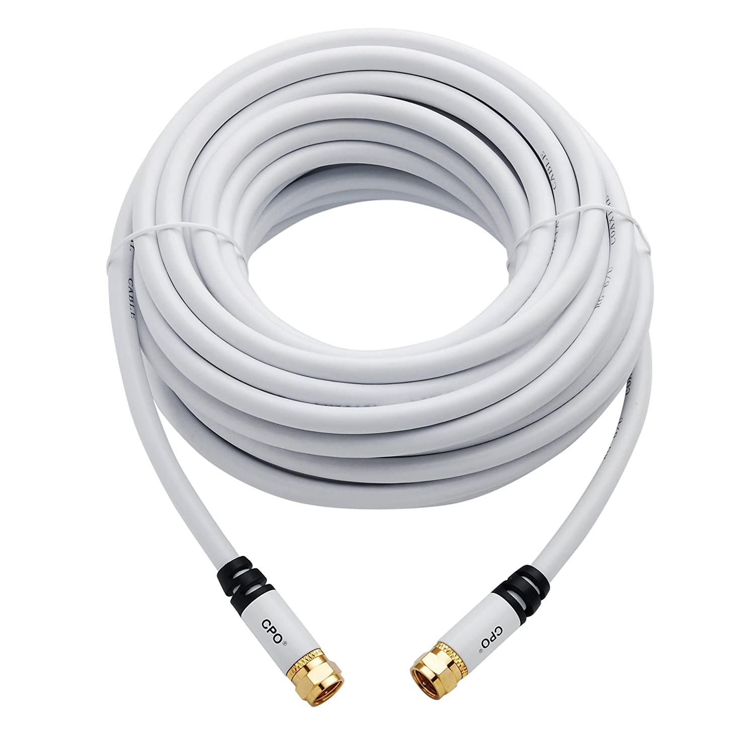Cpo Rg6 F Type Coaxial Television Cable For Sky Tv Virgin And Freeview Set Top Boxes 1m Junction Box Wiring Bq Electronics