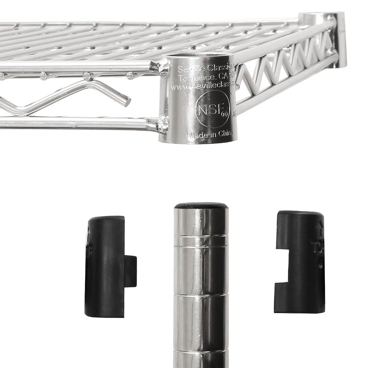 "Seville Classics UltraDurable 5-Tier NSF Steel Wire Shelving with Wheels 18"" D x 36"" W x 72"" H UltraZinc"