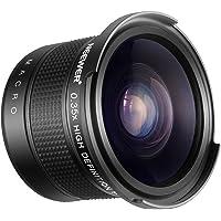 Neewer 55mm 0,35X Ojo Pez Lente Angulo Ancho con Parte de Primer Plano Macro para Nikon D3400 D5600 Sony SLT-A99V, A99II, A99, A77II, A77, A68, A58, A57, A65, A55, A 390, A100, A33, A900 Cámaras DSLR