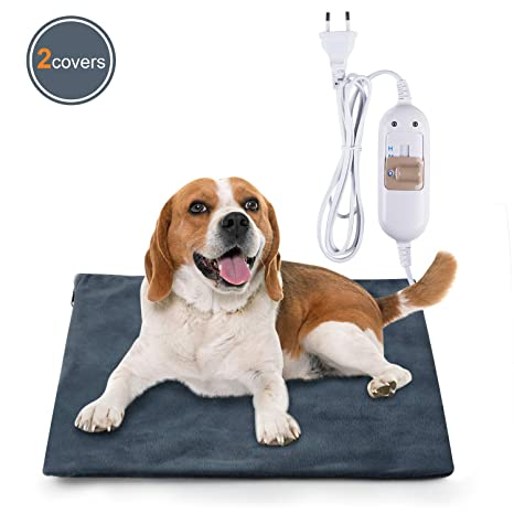 Lypumso Manta Eléctrica para Perros y Gatos, Impermeable Almohadilla Eléctrica con 3 Niveles de Temperatura