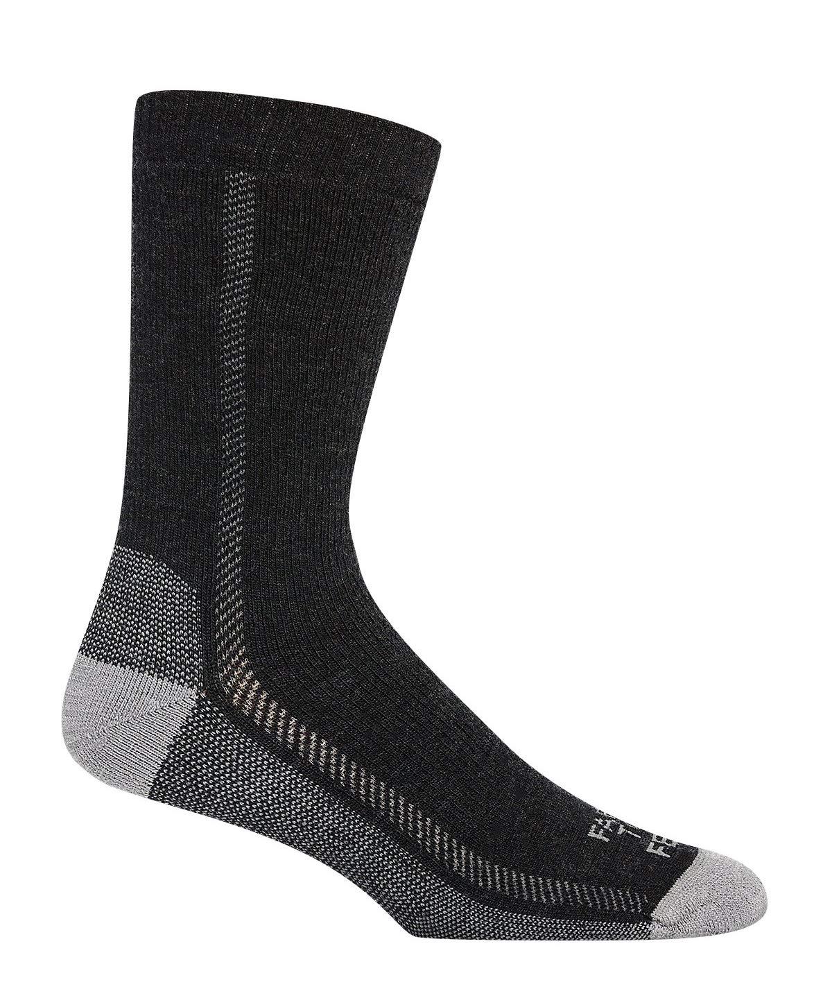 Farm to Feet Madison Lightweight Hiking Crew Socks, Charcoal/Platinum, X-Large by Farm to Feet