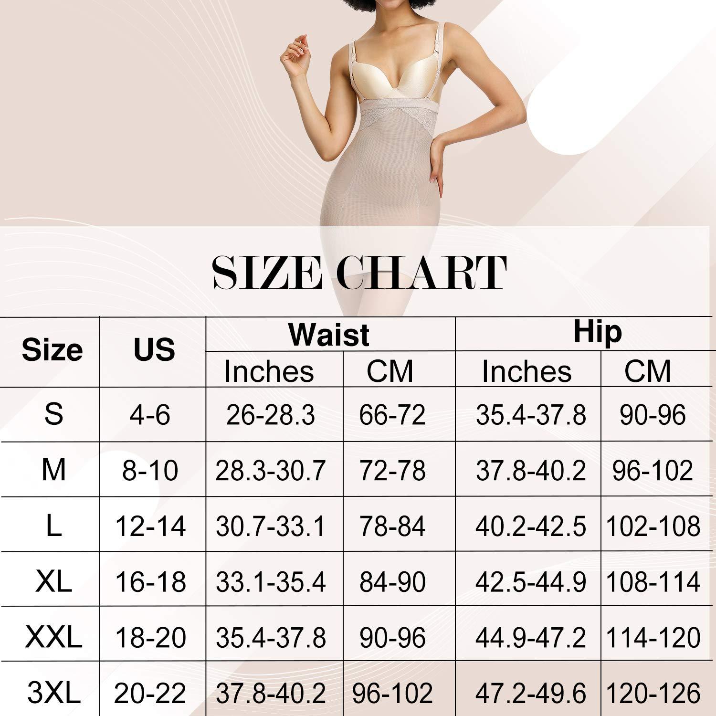 FeelinGirl Women Slimming Full Slip for Under Dresses Full Body Shaping Control Slip