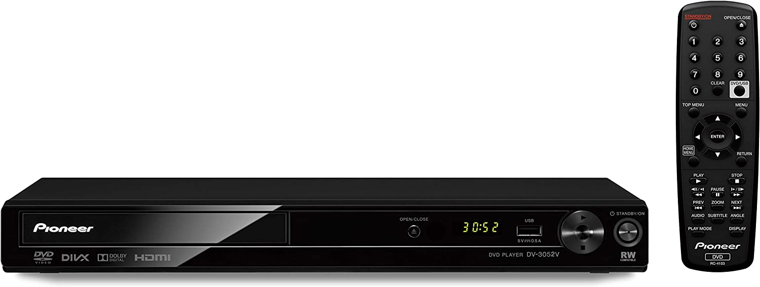 Pioneer DV-3052 Multi System All Region HDMI 1080p Upscaling DVD Player with USB Playback