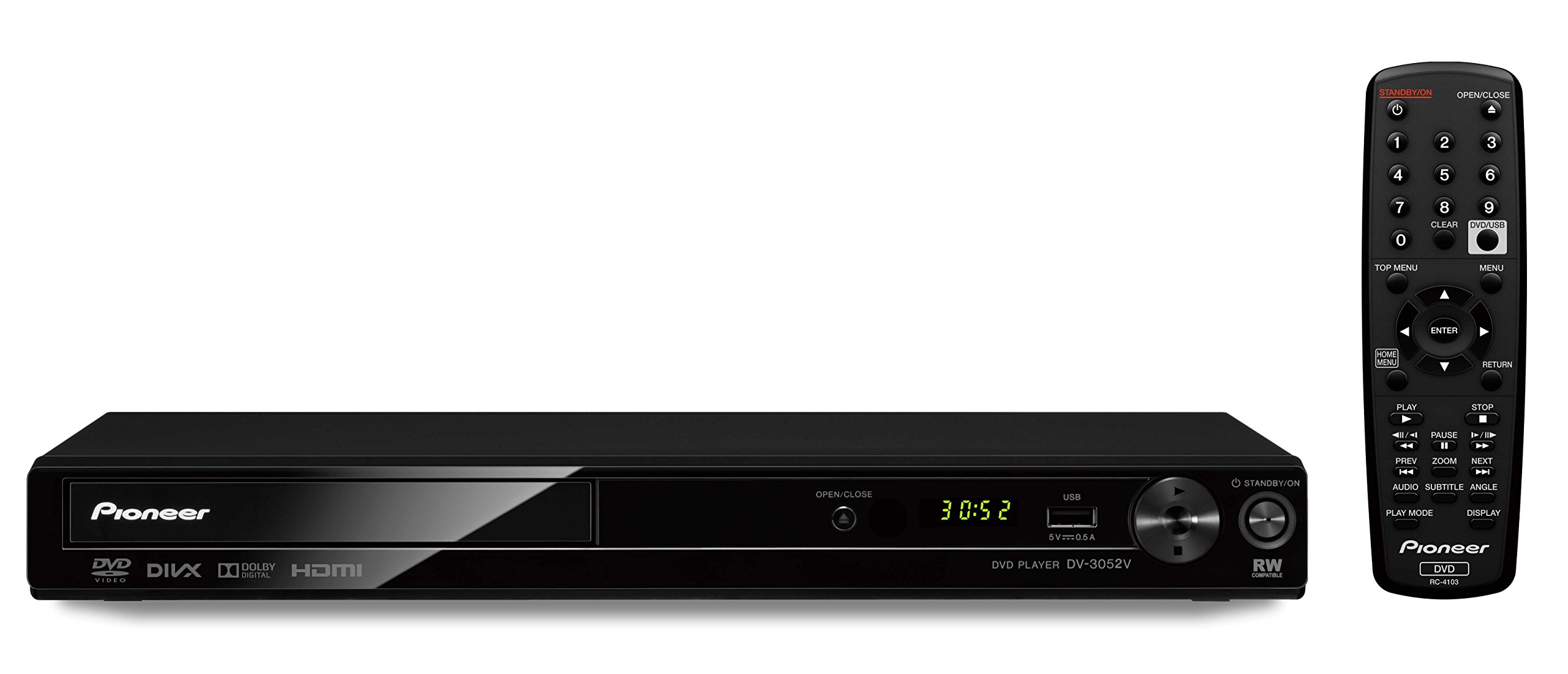 Pioneer DV-3052 Multi System All Region HDMI 1080p Upscaling DVD Player with USB Playback by Pioneer