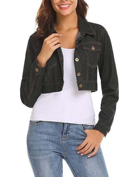 be55e8b39915 Bulges Women's Long Sleeve Embroidery Jeans Button Down Denim Shirt ...
