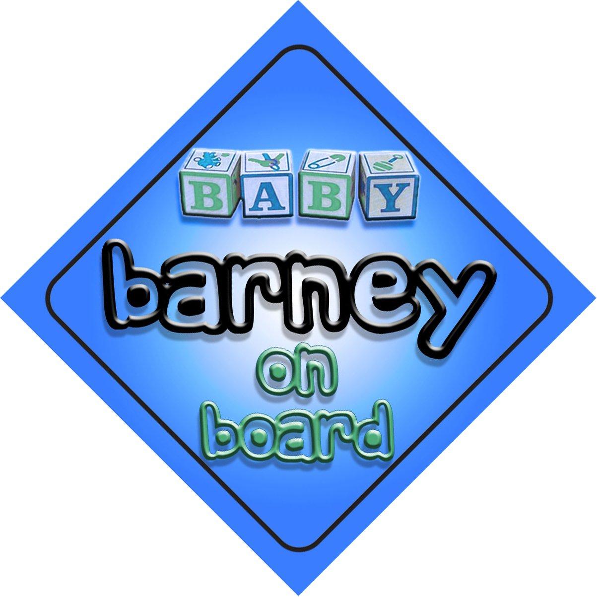 Bébé Garçon Barney on Board fantaisie Panneau de voiture Cadeau/cadeau pour nouveau/enfant nouveau-né