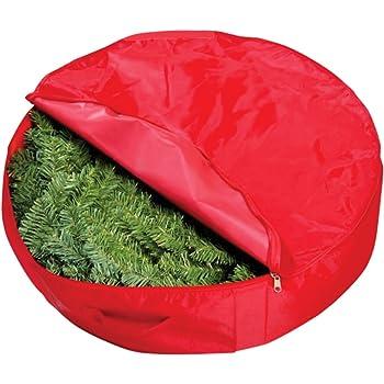 Amazon Com Homz Holiday Wreath Plastic Storage Box Up To