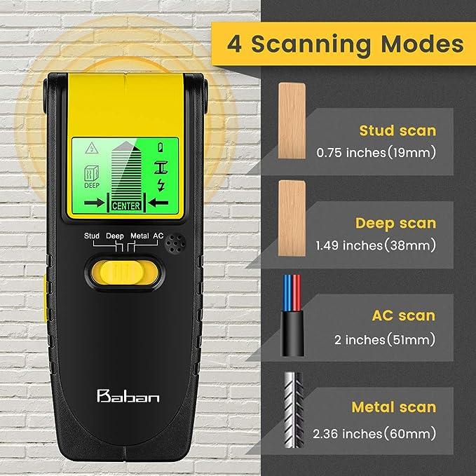 Baban Detector de Metales Scan de Madera, 9V: Amazon.es: Bricolaje y herramientas