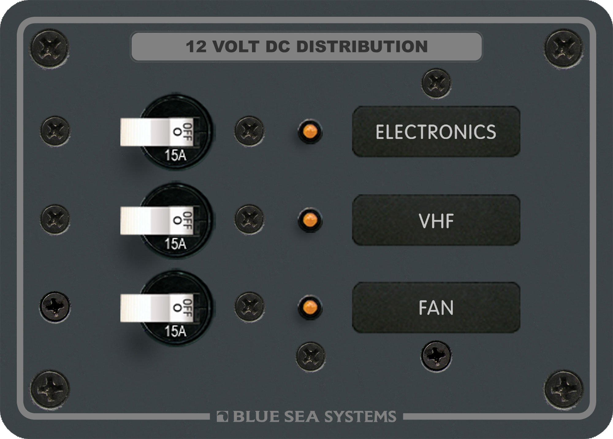 Traditional Metal DC Panel - 3 Positions by Blue Sea Systems