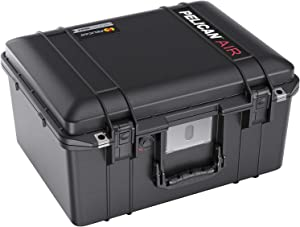 Pelican Air 1557 Case No Foam (2020 Edition with Push Button Latches) - Black (015570-0011-110)