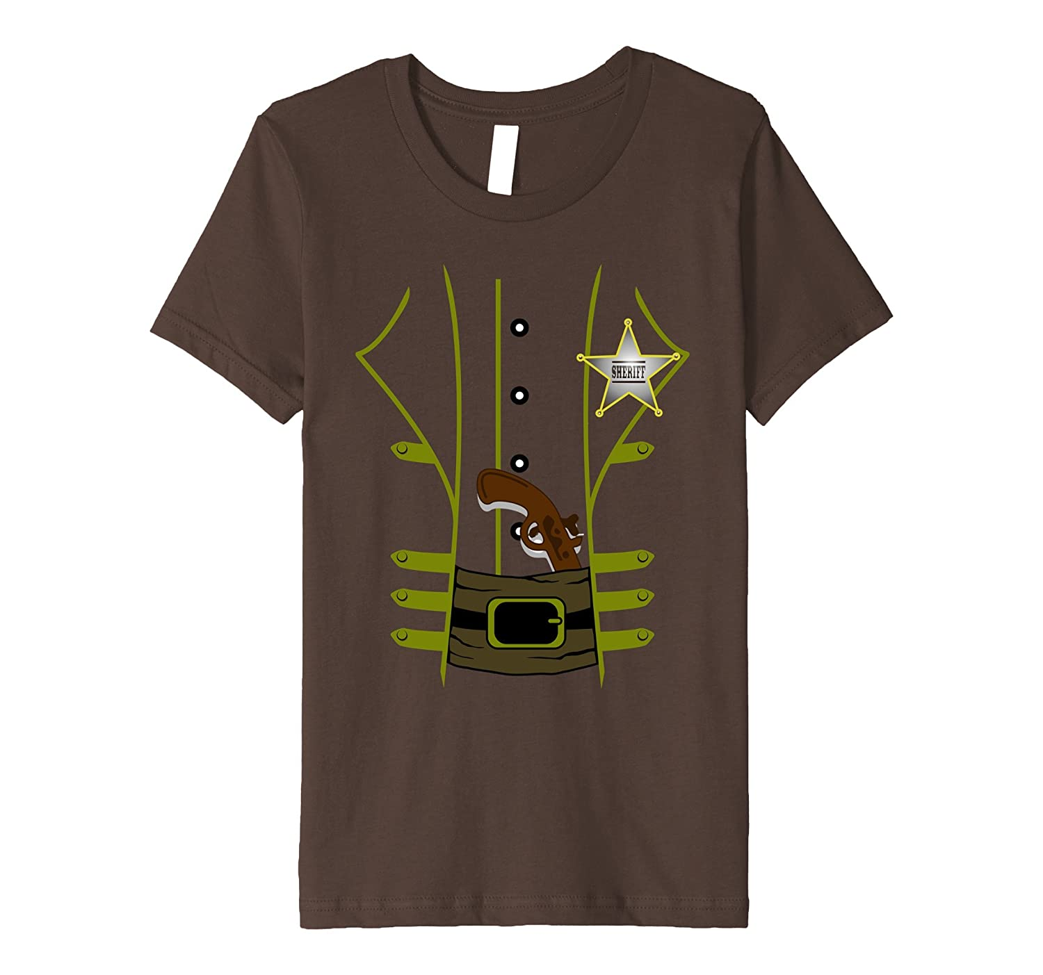 Western Sheriff Costume Tshirt - Men Women Youth Shirt