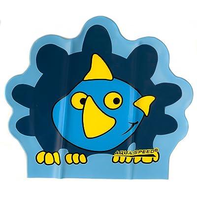 Aqua-Speed ZOO LATEX Bonnet de Bain d'Enfants (Animaux Casque de bain), Couleur:Dino