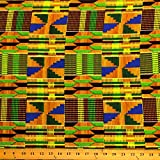 Kente African Print Fabric Cotton Print 44'' wide Sold By The Yard (19006-3) offers