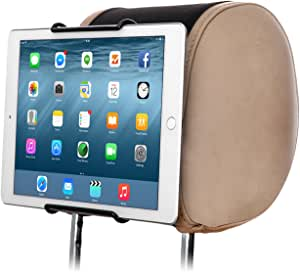 TFY Universal Car Headrest Mount Holder   Works with or Without Case   No Protruding Parts   Fits All 6 Inch to 11 Inch Tablet PCs - Apple iPad, iPad 4 (iPad 2 & 3), iPad Air, iPad Mini - Samsung