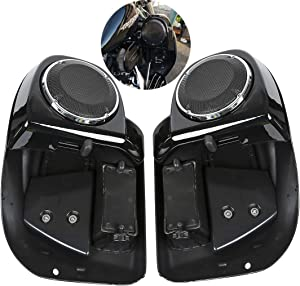 """XFMT Lower Vented Leg Fairing + 6.5"""" Speakers W/Grills For Harley Touring 2014-2020 Road King Electra Street Glide Ultra Classic"""