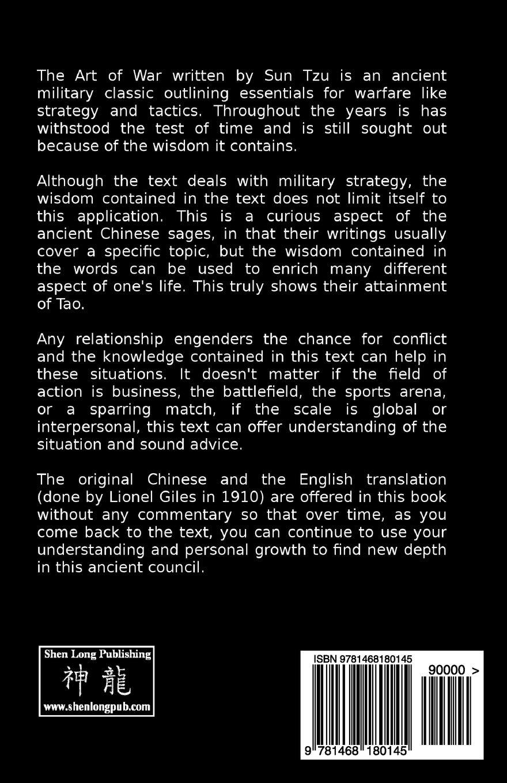 The Art Of War Tzu Sun Fick Franklin 9781468180145 Books Amazon Ca