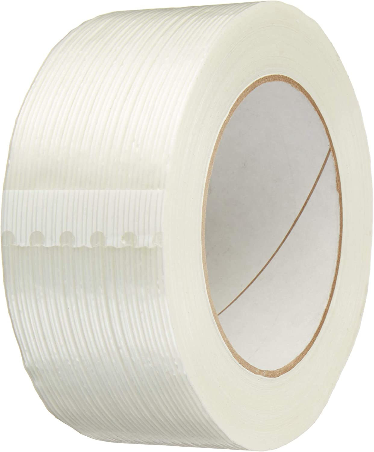 12 Roll 1//2 x 54.6 yds Bi-Directional Fiberglass Reinforced Filament Tape Strapping Tape for Heavy Duty Packing Palletizing 12mm x 50m Wrapping Steel Bundling