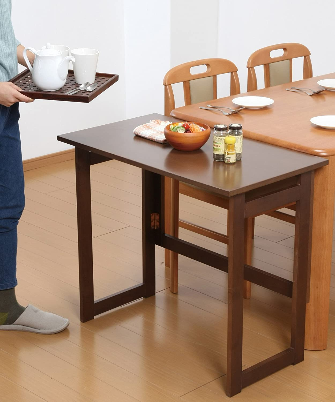 木製折りたたみ式補助テーブル 高さ69cm シンプル 木製テーブル/ブラウン(10) B076Q2XZ2B ブラウン(10) ブラウン(10)