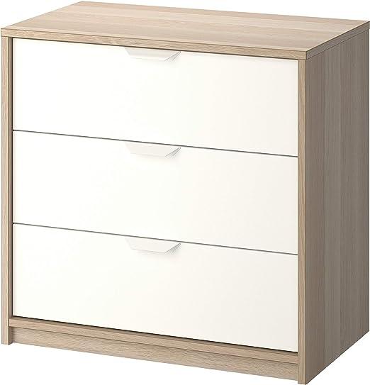 IKEA.. 503.185.72 Askvoll - Cajonera con 3 cajones, Efecto Roble ...