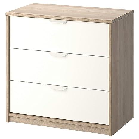 IKEA.. 503.185.72 Askvoll - Cajonera con 3 cajones, Efecto ...