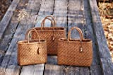Yamako Mountain Grape Basket Handbag (M) 81678