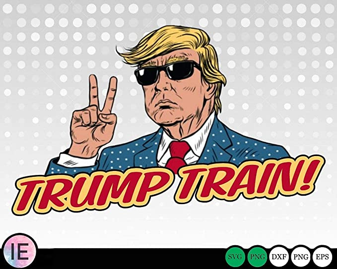 Amazon Com Trump Train Svg Png Trump Vector Cricut Silhouette Trump Sticker Printable Vector Clip Arts Shirt Print Trump Sticker M Kitchen Dining