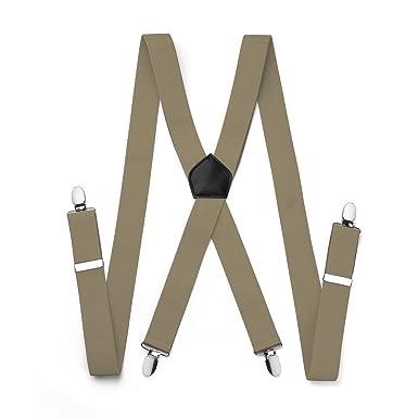 Bretelle pour Homme 4 Clips X Entierement elastique Large 35mm Pantalon  Chemise Costume Complet Soiree Mariage 1a94d61f62dd
